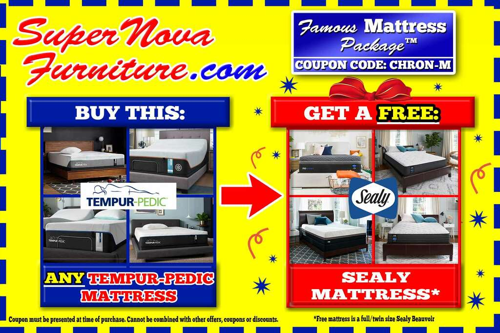Valid at any one of SuperNova Furniture's four Houston locations.