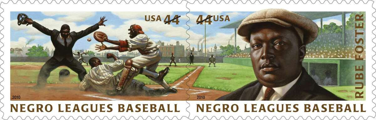 """In June 2010, postage stamps were released commemorating the Negro Leagues Baseball, and Andrew """"Rube"""" Foster, founder of the league and considered the """"father of Negro Leagues baseball."""""""
