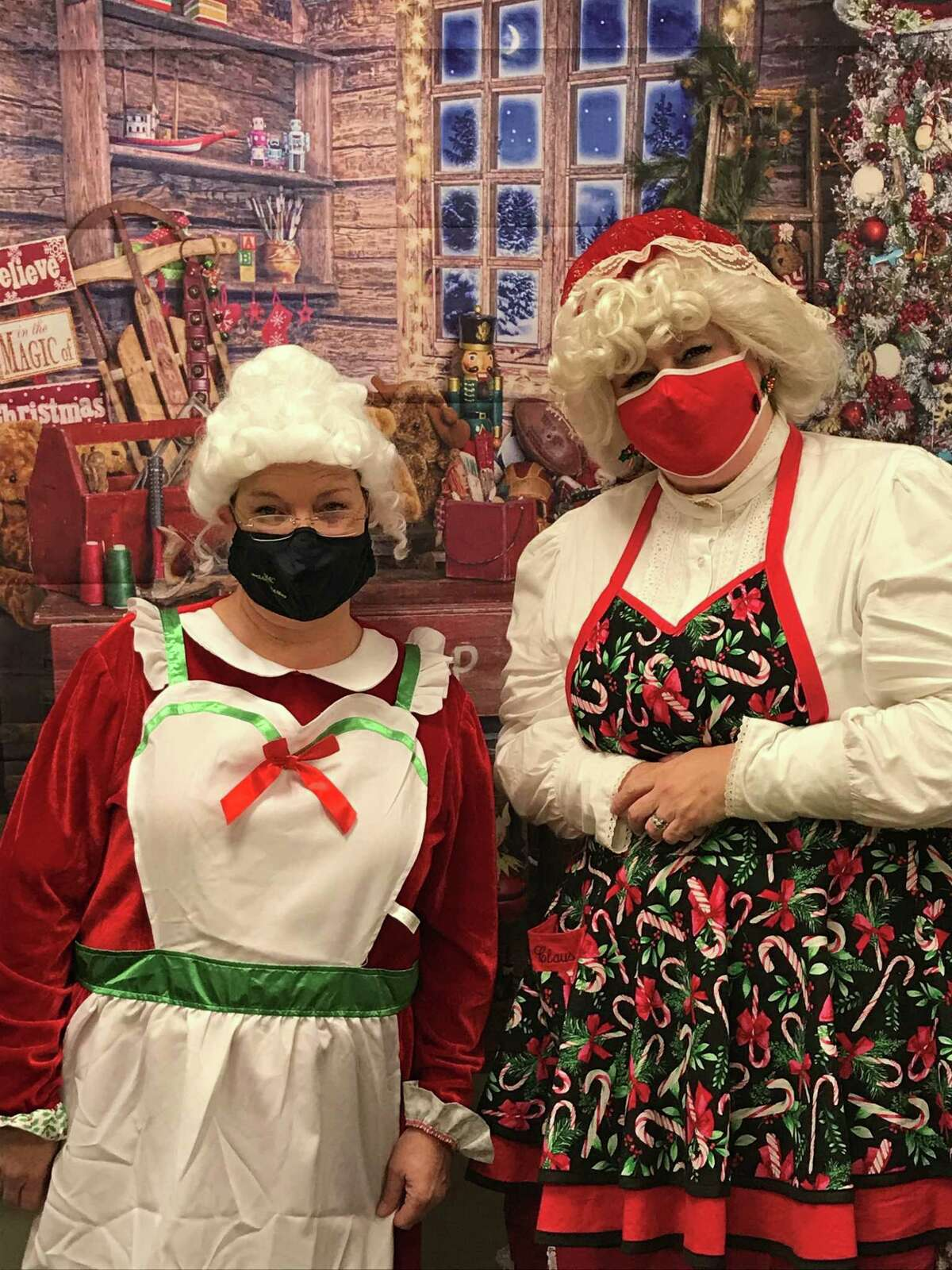 Two Mrs. Claus's who particpated in Santa Express 2020.