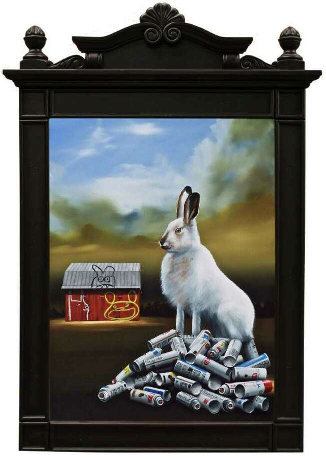 """""""Bad Hare Day"""" by Robert Deyber, part of the exhibit """"Turning A Phrase"""" on view at the Stamford Museum & Nature Center. Photo: Contributed Photo / Connecticut Post Contributed"""