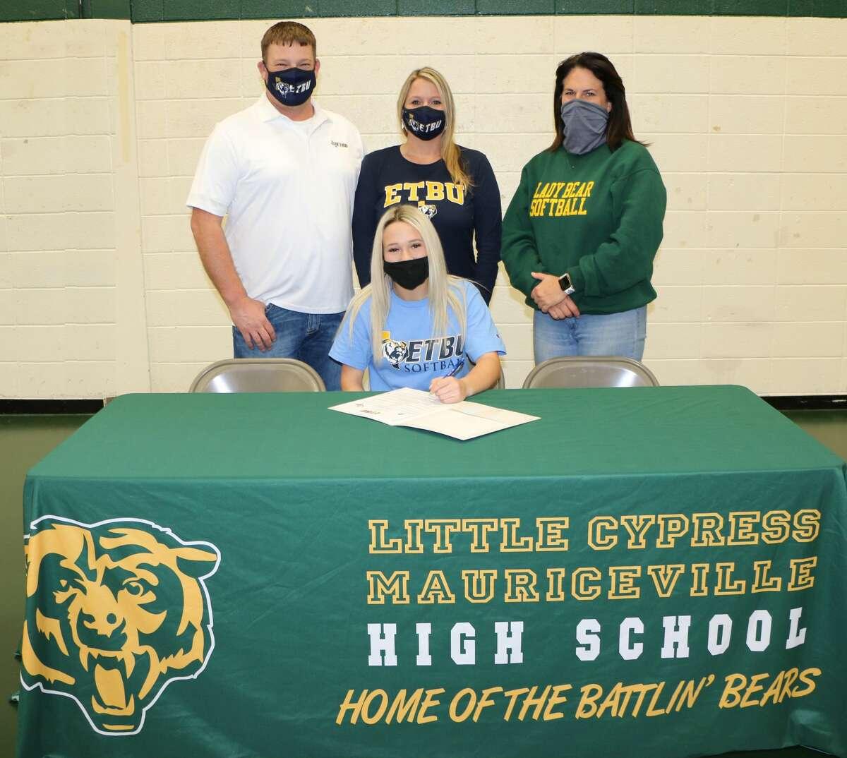 Little Cypress-Mauriceville High School senior Karson Friar signed to play softball for East Texas Baptist University.