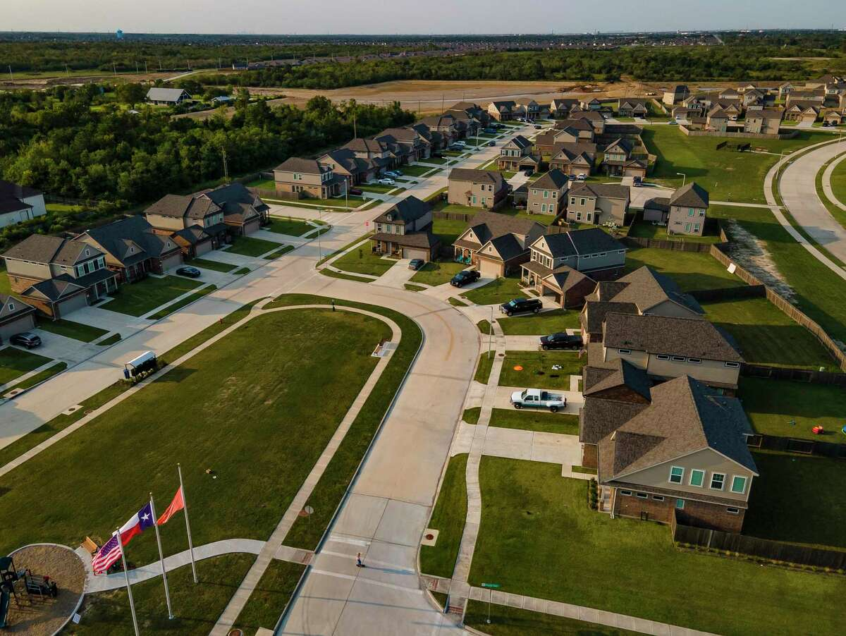 The Bay Colony Pointe West neighborhood built by Houston-based Wan Bridge in League City, Thursday, Oct. 1, 2020. The neighborhood's houses are available exclusively as rentals.