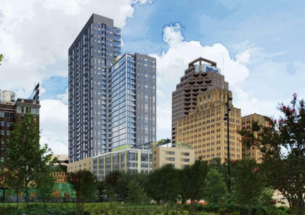San Antonio developer Weston Urban plans to build a 32-story tower at 305 Soledad St.