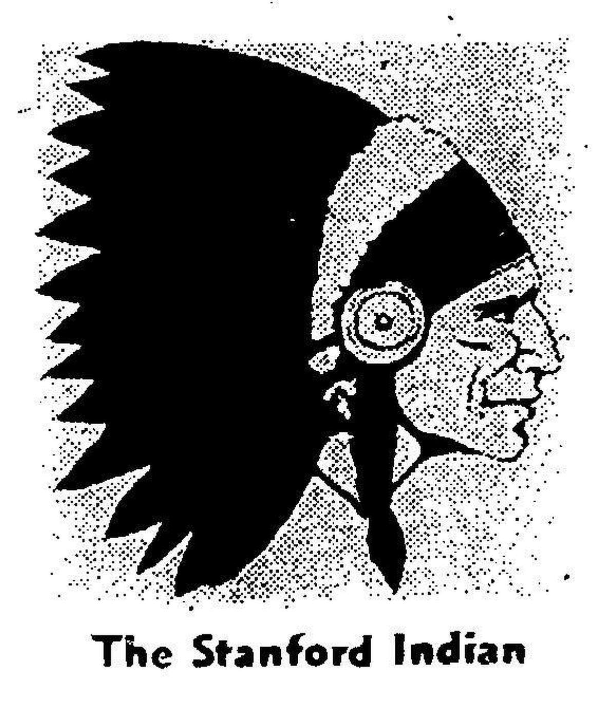 The Stanford Indian logo as it looked in 1972.