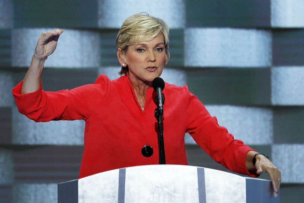 Former Michigan Gov. Jennifer Granholm speaks at the Democratic National Convention in 2016. Granholm, who currently teaches at UC Berkeley, is Joe Biden's pick to head the Department of Energy.
