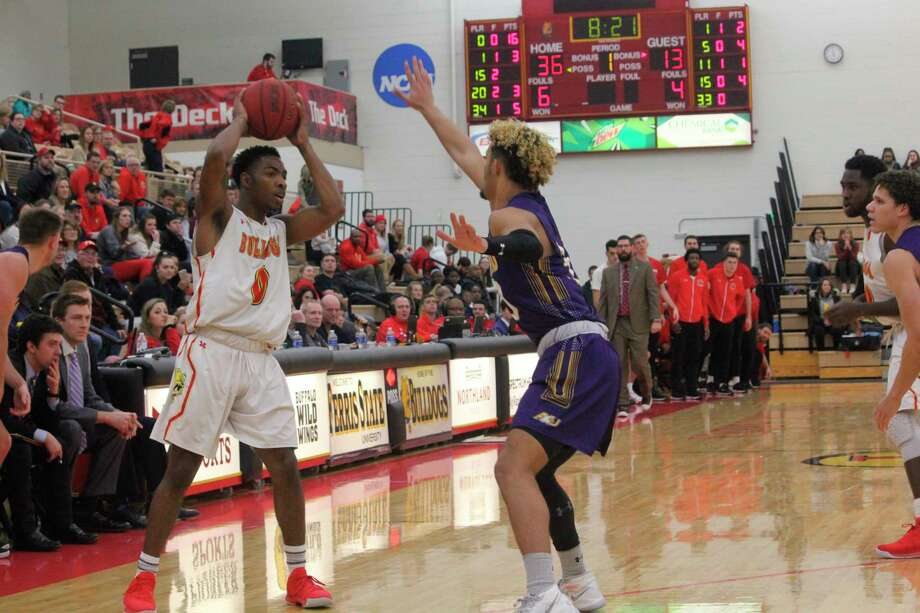Ferris senior Walt Kelser (left) nabbedpreseason All-GLIAC North Division honors by being named as one of the league's top performers. (Pioneer file photo)