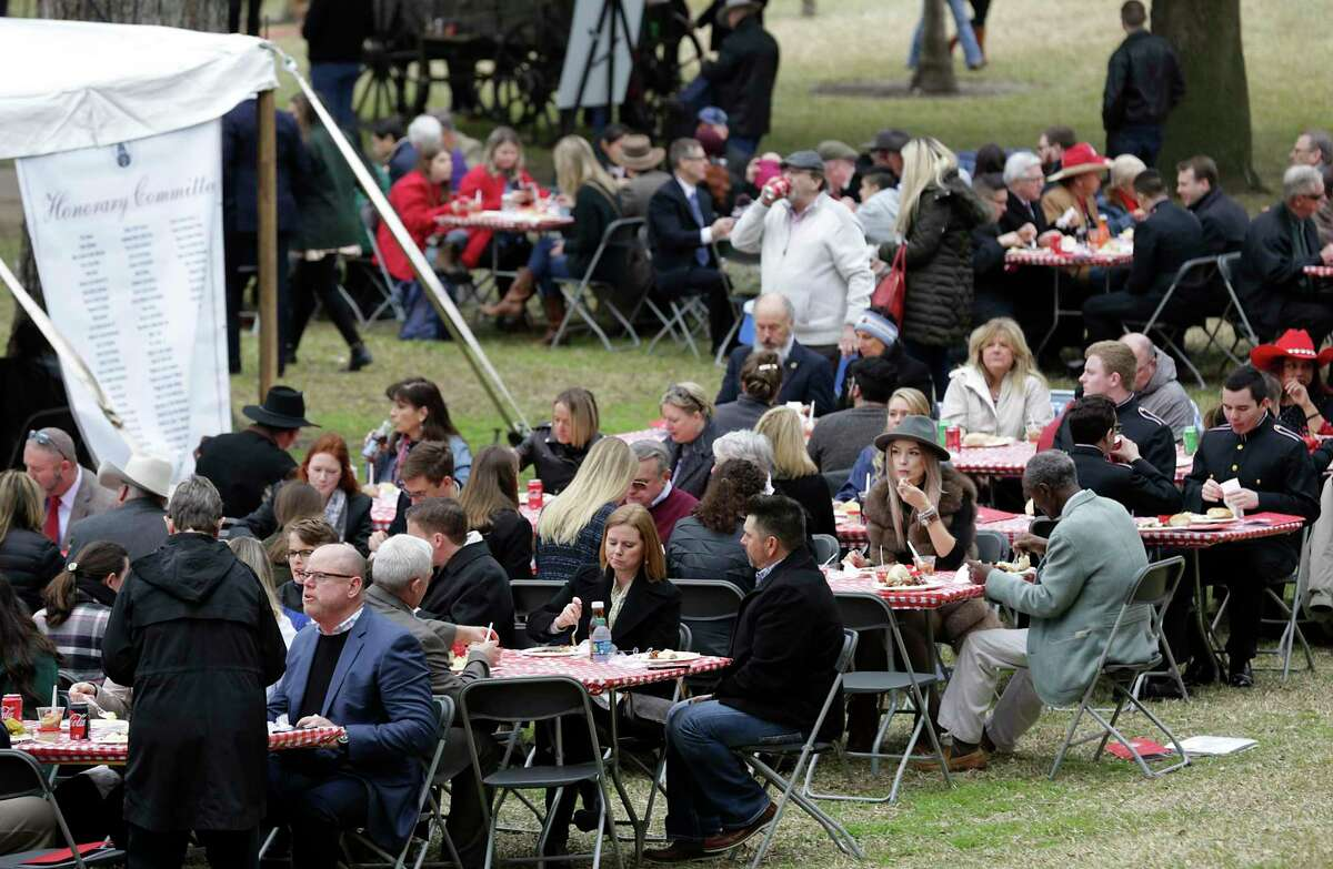 Barbecue is served up at the Inaugural Family after the Inauguration Ceremony in Austin, on Tuesday, Jan. 15, 2019.