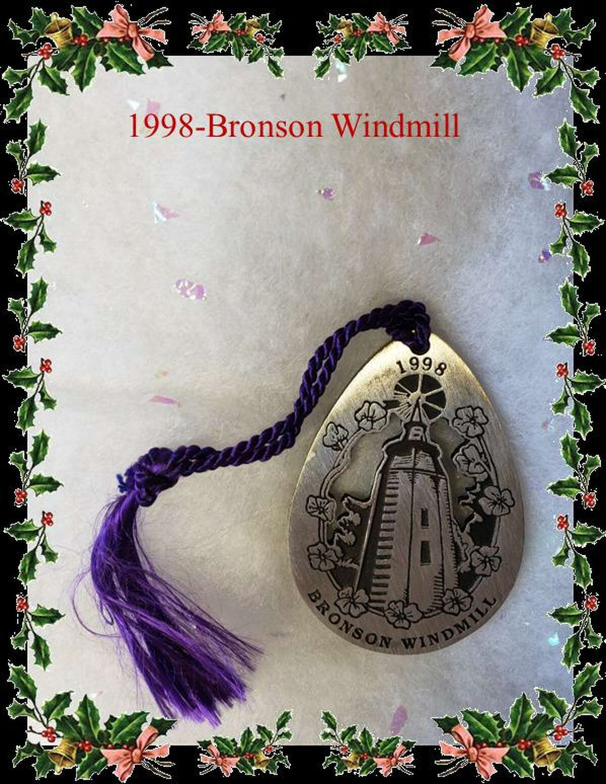 Six different Holiday ornaments from the company Woodbury Pewter, and of historic landmark buildings in Fairfield are available for purchase from the Fairfield Chamber of Commerce. The ornaments are $20 each, or $100 for a set of six ornaments. Pictured is one of the ornaments, the 1998 Bronson Windmill.