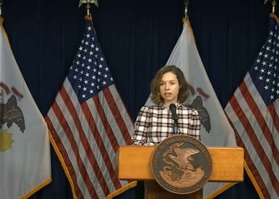 Illinois Department of Commerce and Economic Opportunity Director Erin Guthrie announces the state's new Computer Equity Network donation drive on Wednesday. Photo: Blueroomstream.com