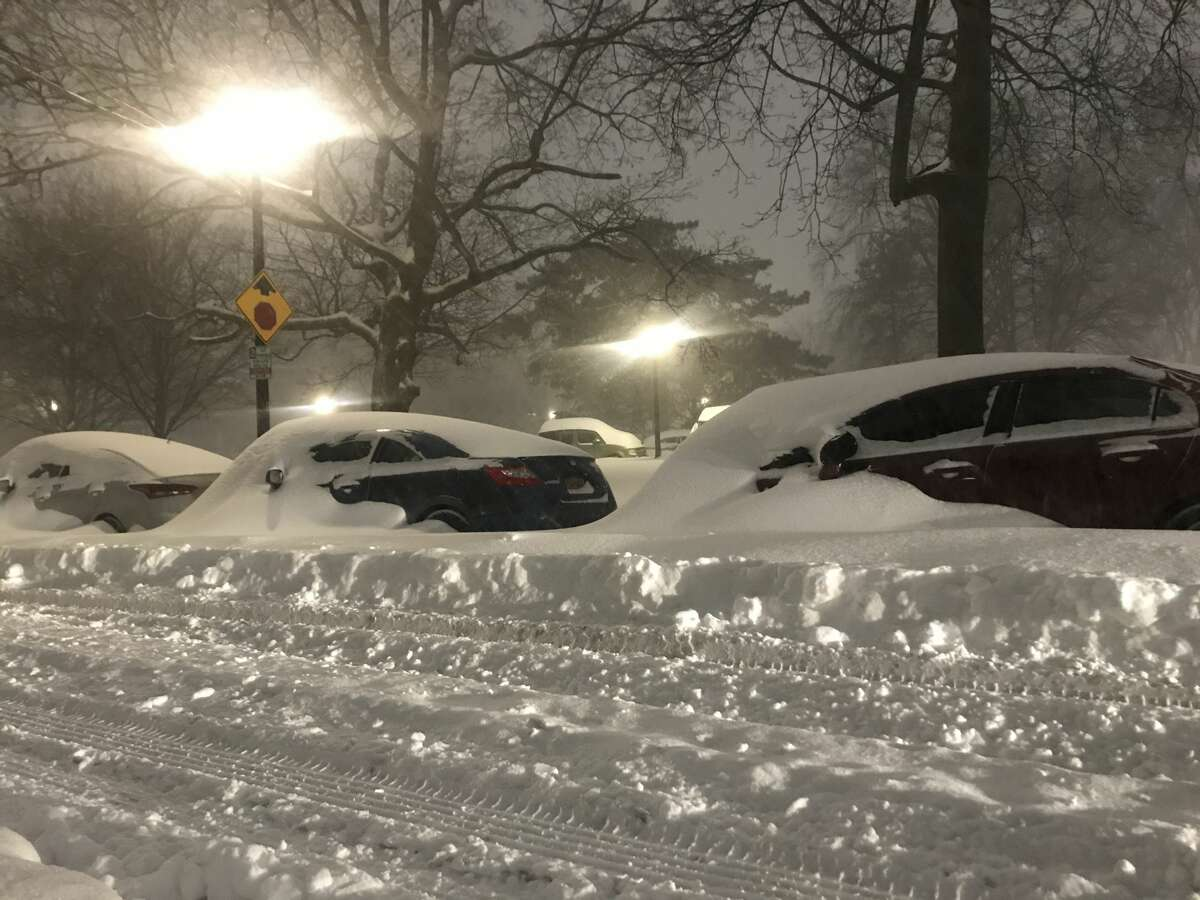 Scenes from downtown Albany after the Capital Region woke up Thursday morning to at least a foot of snow as the first major winter storm of the season.