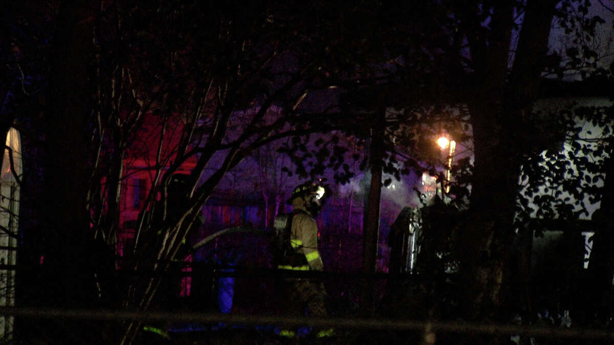 A woman said her boyfriend set her West Side home on fire Thursday during an argument, the San Antonio Fire Department said.  When firefighters arrived at the home in the 600 block of San Joaquin Avenue around midnight, the rear of the house was on fire.