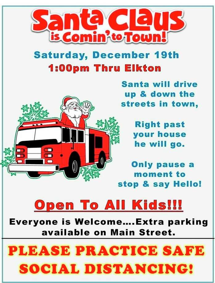 The flyer announcing Santa's visit to Elkton on Saturday (Courtesy Photo)