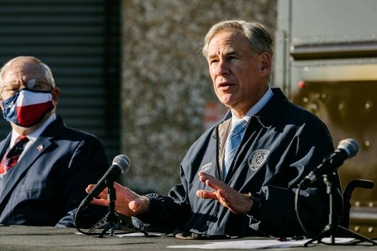Gov. Greg Abbott said more than 200,000 COVID-19 vaccines have shipped across Texas and projects the state will have nearly 1 million by the end of the year during a news conference Thursday at a UPS distribution center in Austin.