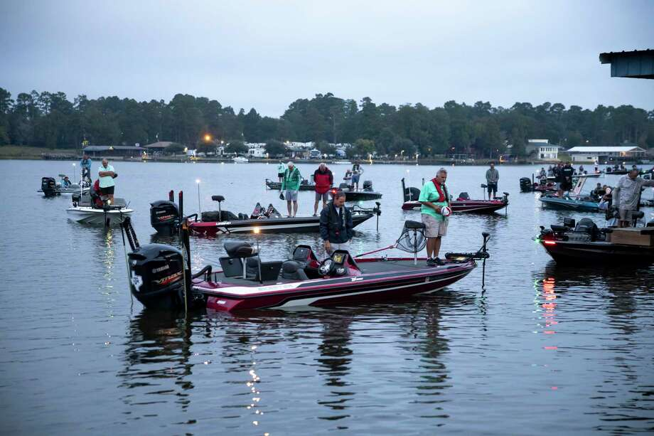 In this file photo, boaters wait to be called to start the tournament at the 13th Annual SCBC Fall Bass Classic in Lake Conroe, Saturday, Oct. 10, 2020. Over 38 teams participated in this years event which will help benefit Kids Unlimited. Photo: Gustavo Huerta, Houston Chronicle / Staff Photographer / 2020 © Houston Chronicle