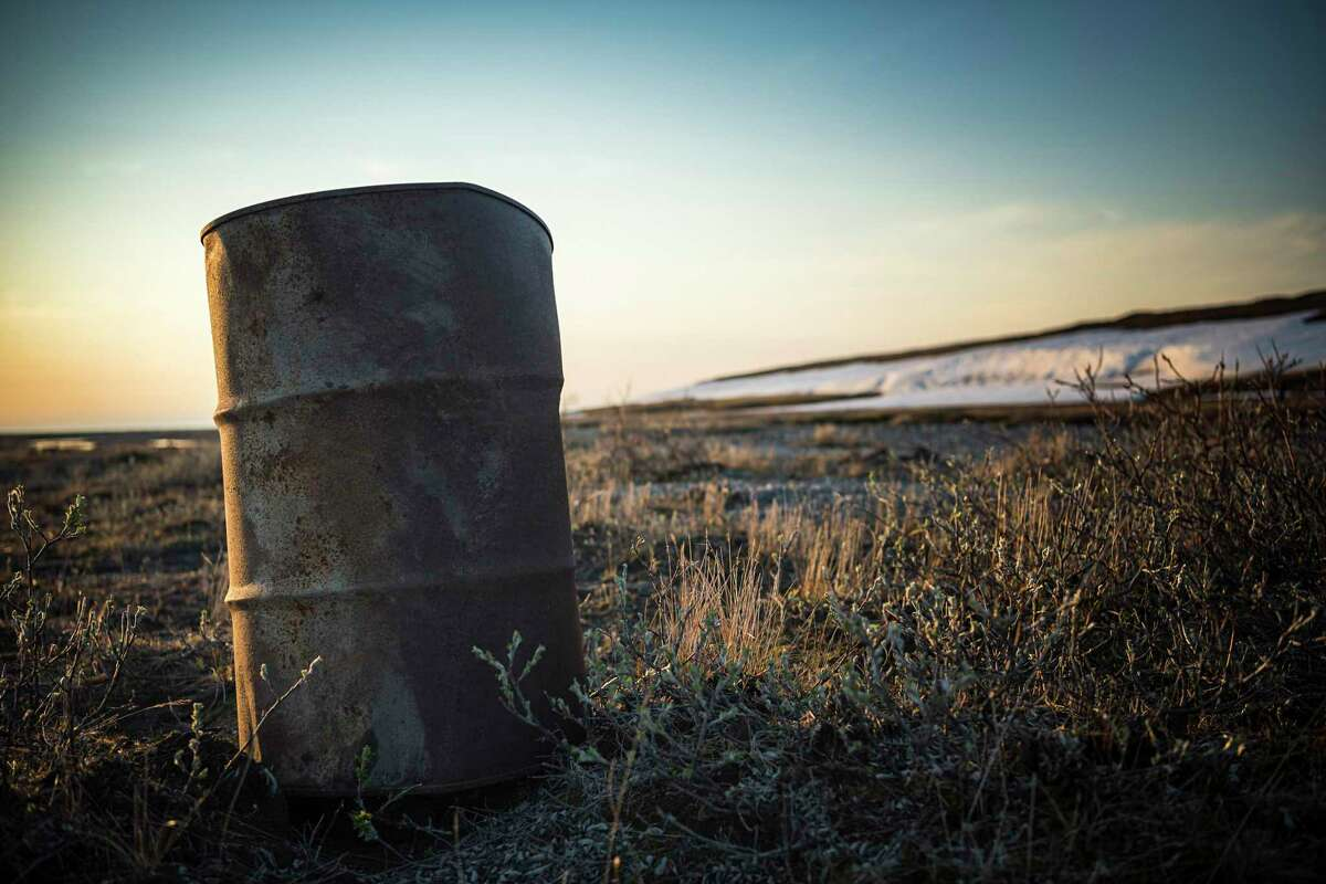 An old fuel drum in the Arctic National Wildlife Refuge in Alaska. The Trump administration announced Nov. 16, 2020, it would begin selling oil leases for the Arctic National Wildlife Refuge in Alaska.