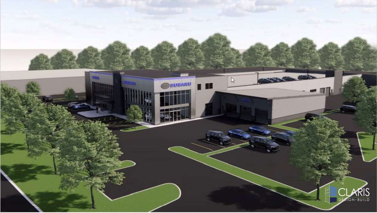 A rendering of the new Garavel Subaru dealership proposed at 250 Main Ave. in Norwalk.