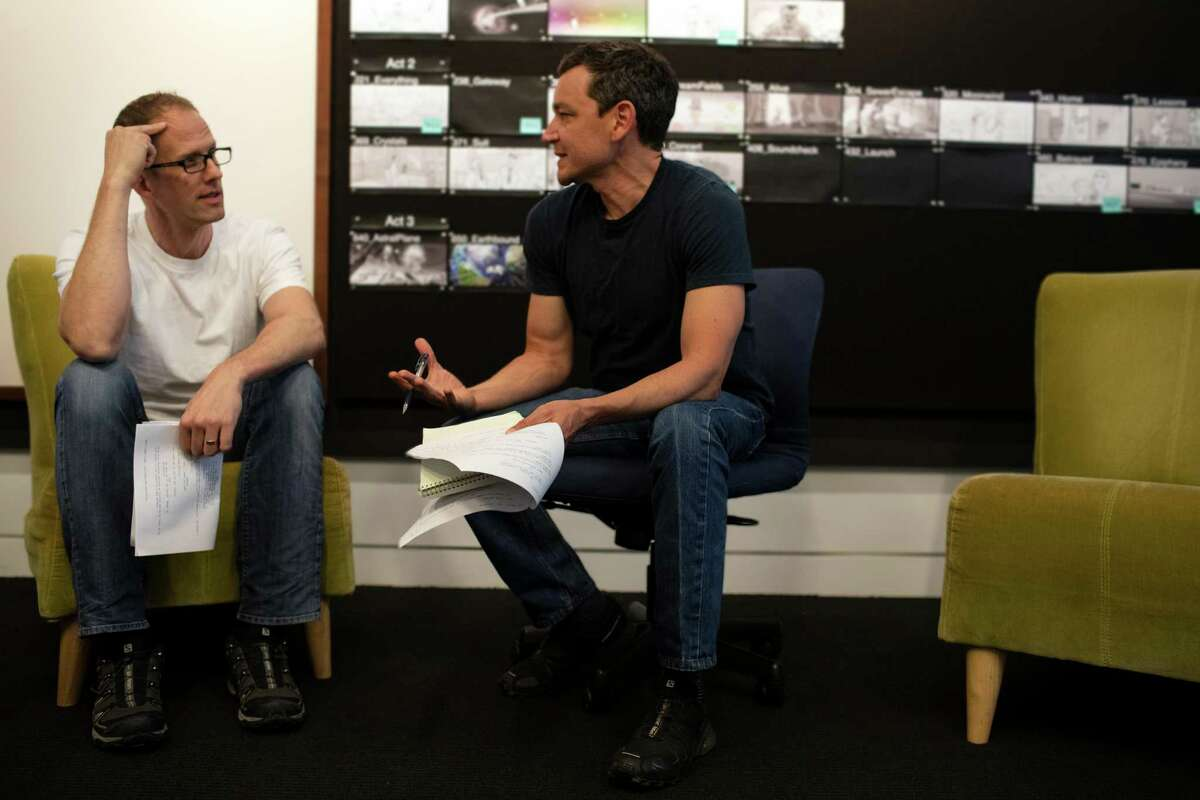 Director/writer Pete Docter and co-writer Mike Jones of Pixar discussing the movie