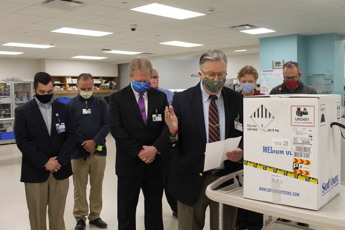 Midland Memorial Hospital received the first doses of the Pfizer-BioNtech COVID-19 vaccine Thursday, December 17, 2020.