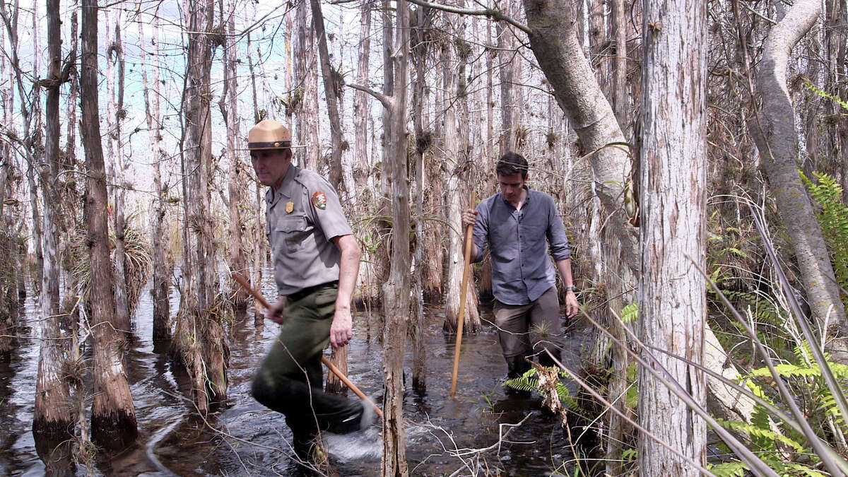 At Everglades National Park in Florida, Conor Knighton learned about the local wildlife, including crocodiles and alligators, from ranger Alan Scott.