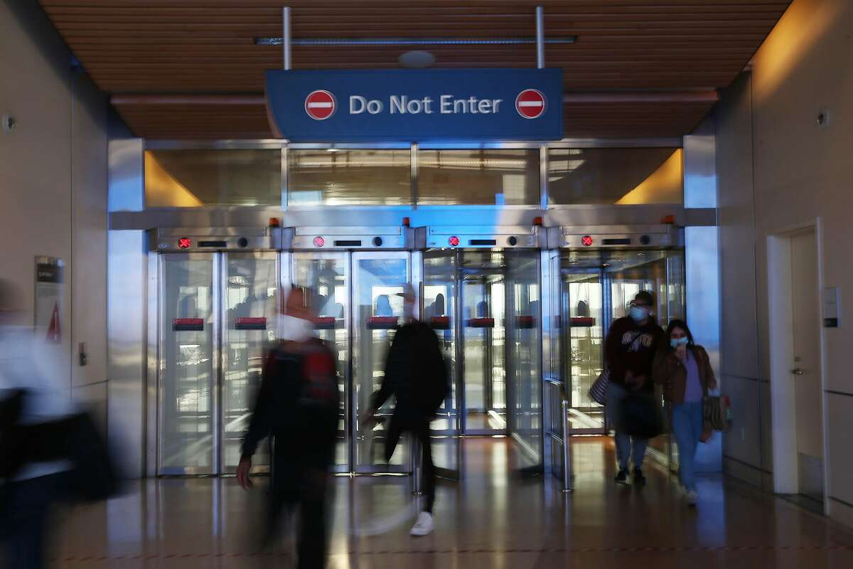 The arrival gate in Terminal B at Norman Y. Mineta San Jose International Airport in San Jose. New COVID-19 restrictions for Santa Clara County include a 14-day quarantine for all those traveling to the county from more than 150 miles away.