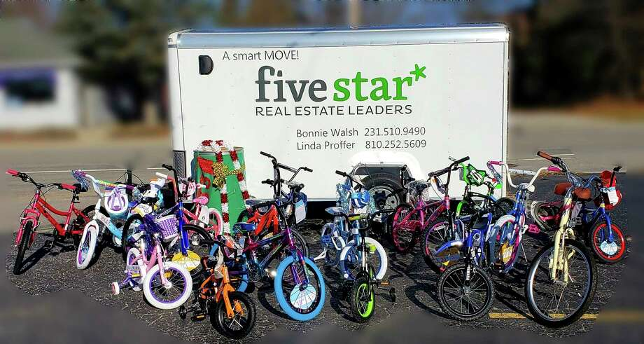 Five Star Real Estate of Onekamafilled a trailer with brand new bicycles for Toys for Tots. (Courtesy photo)