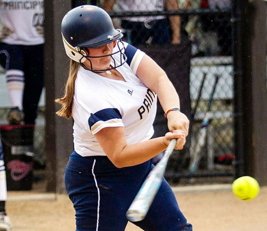Principia's Hannah Hathaway was among the players recently named to the SLIAC All-Decade softball team. Hathaway earned All-Conference honors three times during her career and was twice selected as a member of the First Team. Photo: Principia Athletics