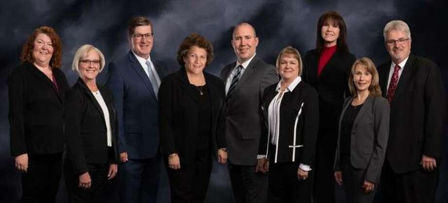 Pictured, from left, are Wendi Bolin, Deneen Messer, Darren Wright, Norma Bellcoff, Joshua Schuette, Amy Warren, Christina Kaus, Pamela Ramsey and Bryan Gorman.