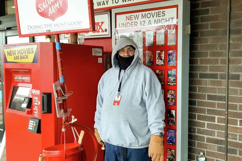 David North recently stood outside of Kroger in Midland for a few hours ringing a bell for the Salvation Army's Red Kettle Campaign. No stranger to being out in all types of weather, North gives several reasons why he has spent the last 13 years as a bell ringer. The first is that he likes to help people. (Photo by Niky House)