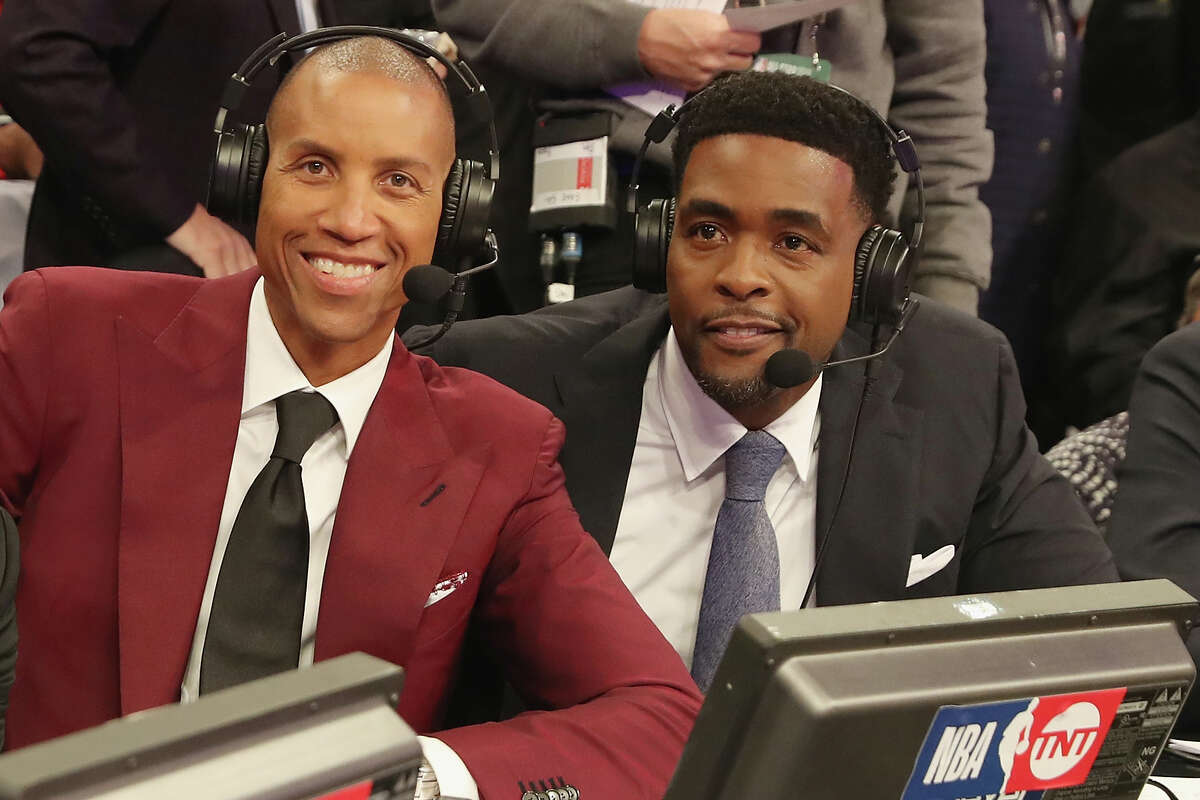 TNT analysts Reggie Miller (left) and Chris Webber said Rockets management and fans should avoid hard feelings or animosity if James Harden is on the way out in Houston.