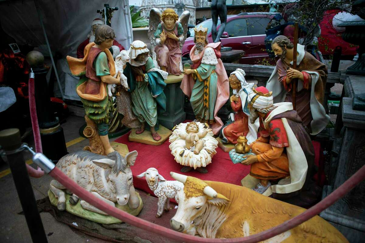A nativity scene at Craftex, a decoration supply store on Monday, Dec. 14, 2020.