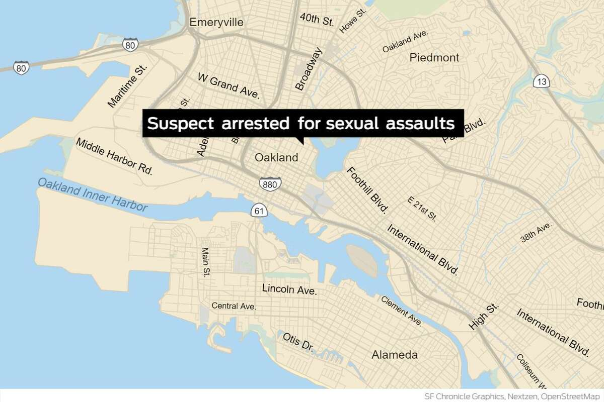 Oakland police have arrested a suspect on suspicion of committing a series of sexual assaults in the Lake Merritt area.