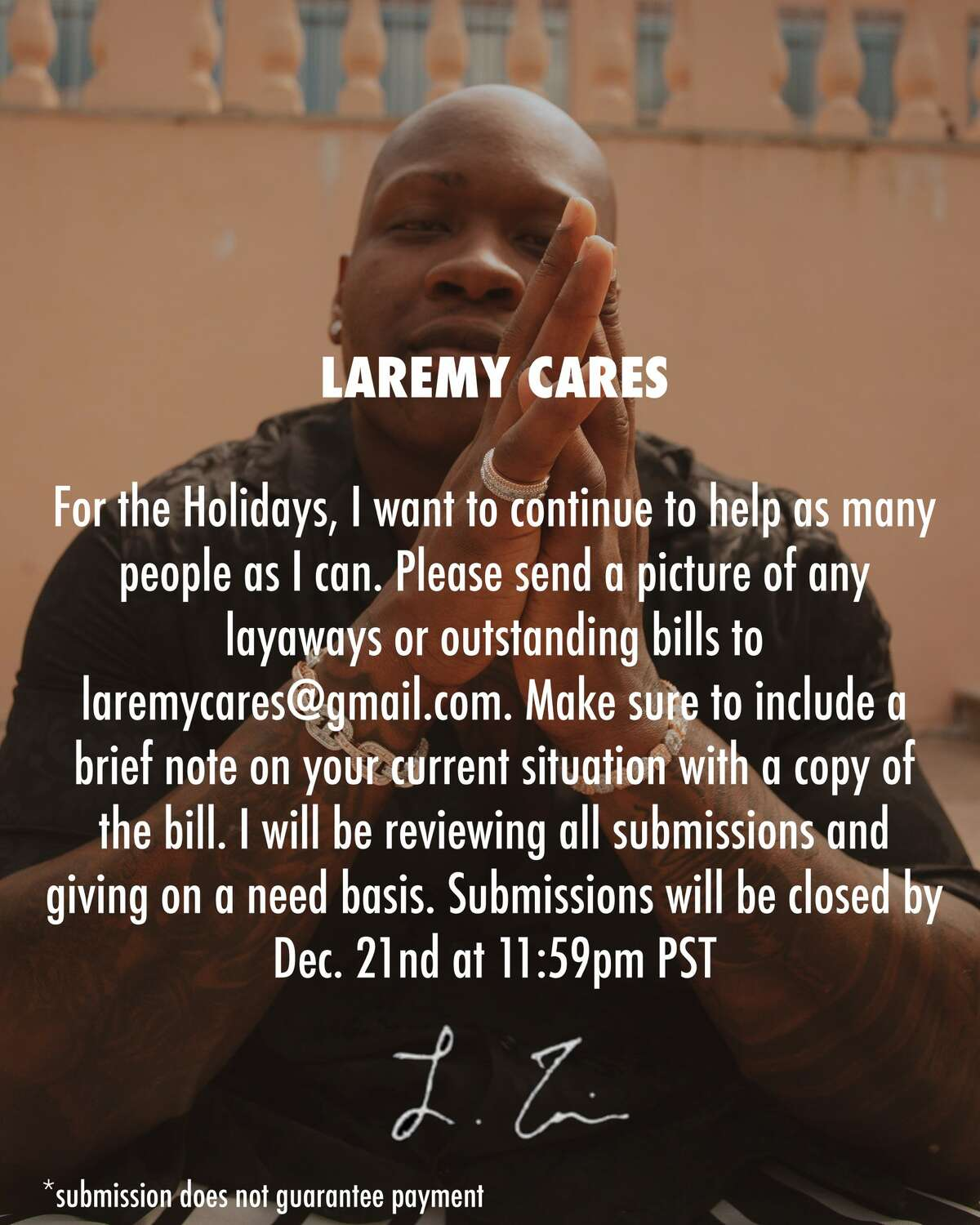 Texans Pro Bowl left offensive tackle Laremy Tunsil is giving back at holiday time to those in need.