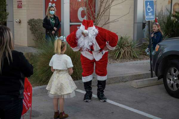 Scenes from Socially Distance with Santa hosted by SignatureCare Emergency Center on Thursday, Dec. 17, 2020 at 5409 West Wadley Ave. Jacy Lewis/Reporter-Telegram