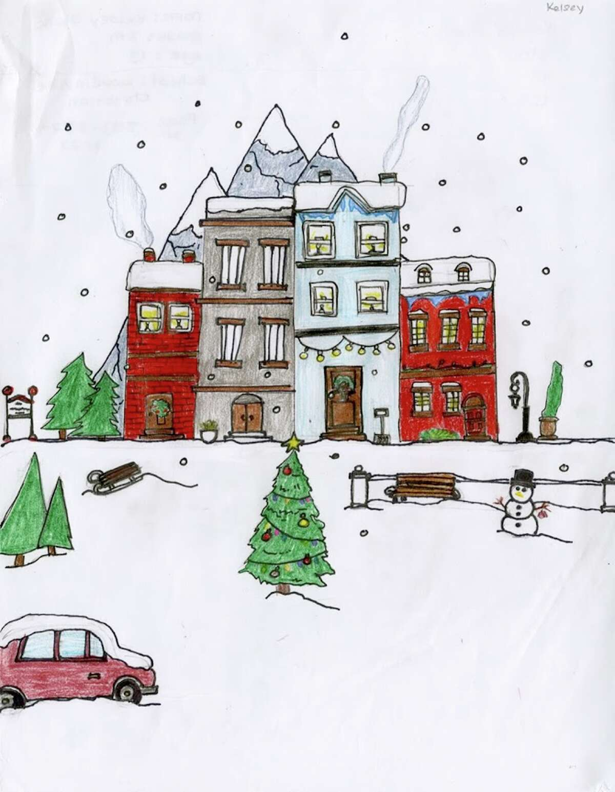 Did anyone say Rocky Mountain Christmas?That's what we felt when seeing the entry by Kelsey Slane, an 8th grader at Loudonville Christian School.