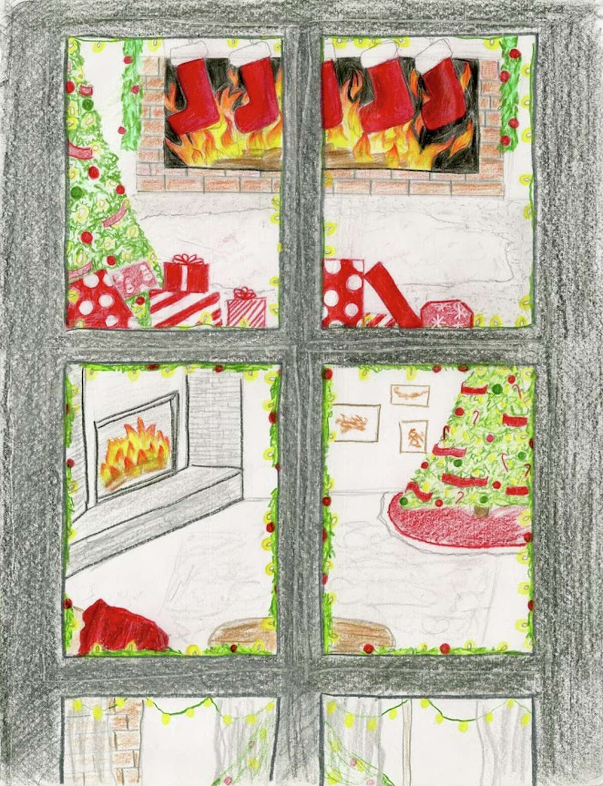 Here are the finalists of the 2020 home-made holiday card contest. Click through to see them all.  Links to all the entries are below. Joelle Roosenberg, a 10th grader at Loudonville Christian School, made us glow with multiple fireplaces seen from windowpanes.