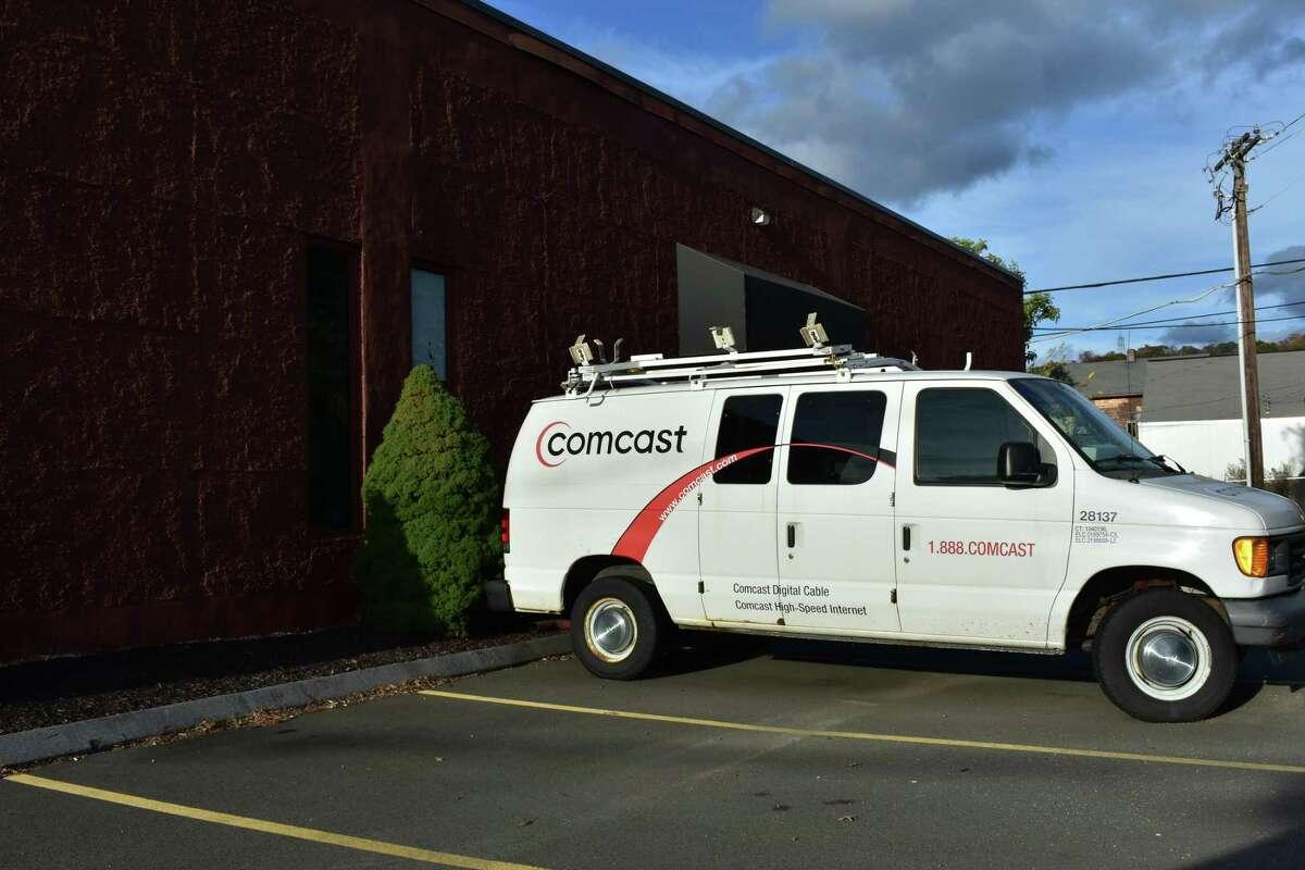 A Comcast service van