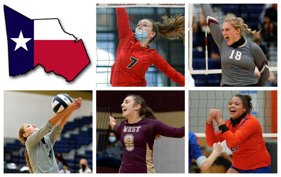 Claire Arend, Brynn Botkin, Payton Woods, Alyssa May and Fallon Thompson are The Courier's nominees for Offensive MVP. Photo: Staff File Photos