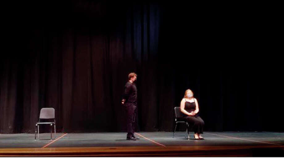 Pictured is Ivabelle Wilhelm and Jeffrey Werner in their audition for the duet acting. The two received a Superior Award for the performance. Photo: Courtesy Photo