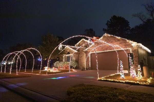 As seen, homes are decorated in Christmas decorations in Montgomery, Tuesday, Dec. 15, 2020.