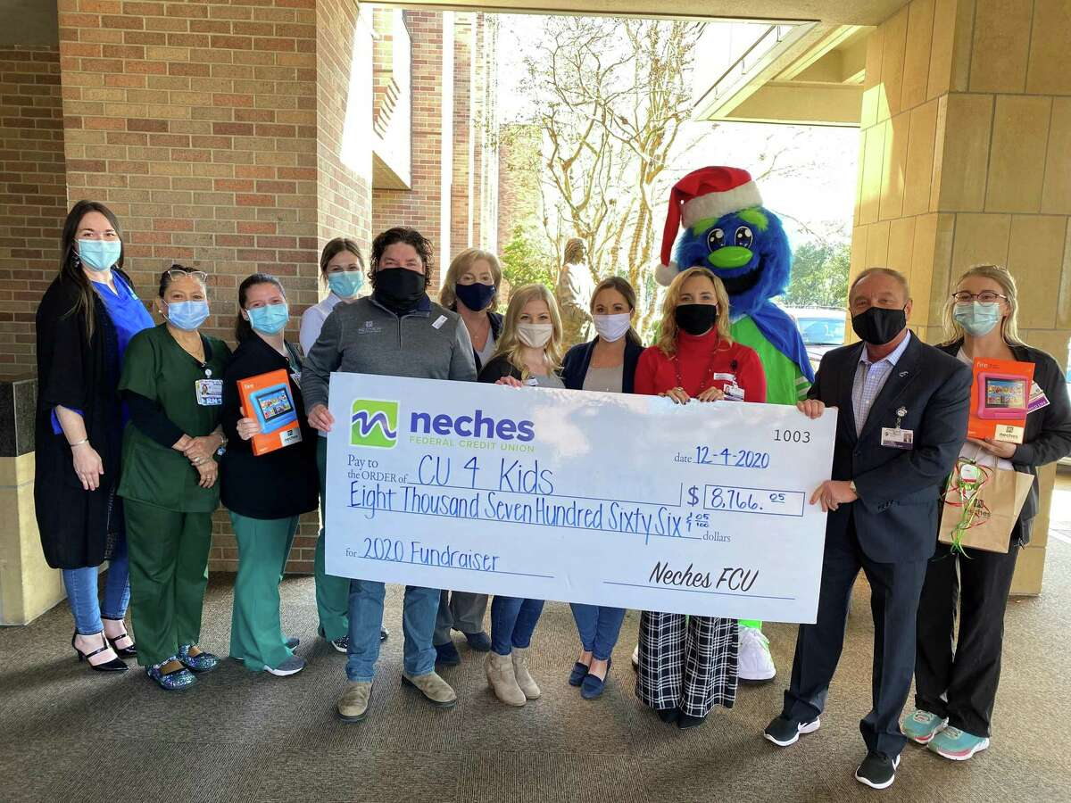 Neches Federal Credit Union raised $8,766 for the Christus Southeast Texas Foundation as a part of the Children's Miracle Network Hospital program.