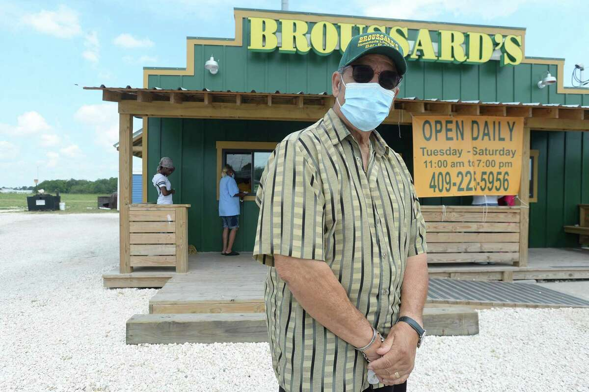 Leonard Broussard stands outside Broussard's BBQ in Beaumont. Broussard started the business 27 years ago, and has been a go-to for barbecue since. Broussard has been reacing out to to help those in need, making weekly deliveries every Saturday to various homeless camps and other spots. Photo taken Wednesday, June 17, 2020 Kim Brent/The Enterprise