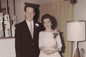 Sam and Linda Brinkley at their wedding