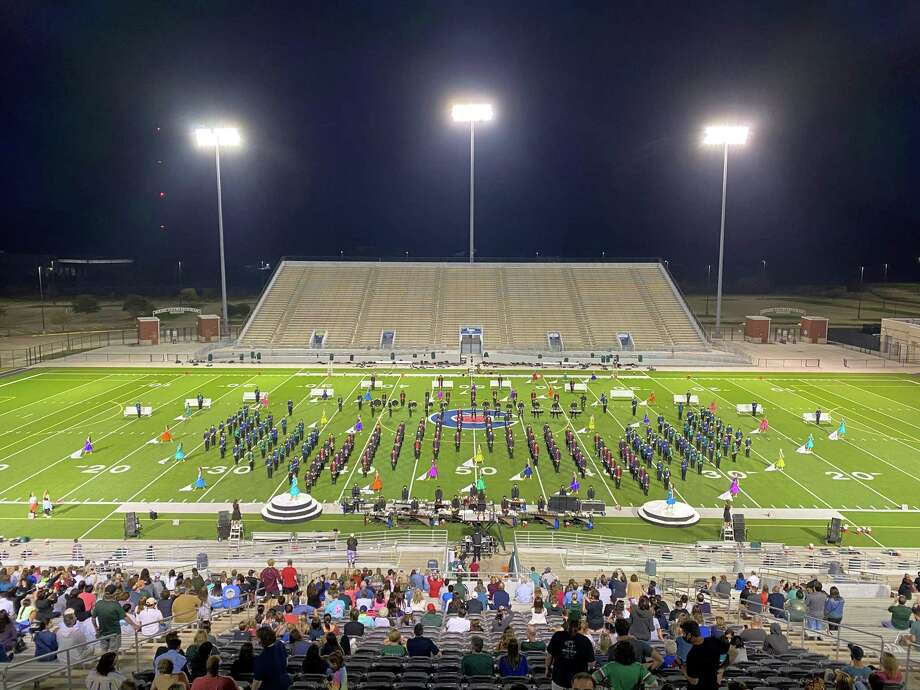 Almost all of the 300 students in the TWHS band program went to perform at the Alamodome in San Antonio this week for state finals where the team ended up placing fifth out of 20. Photo: Provided