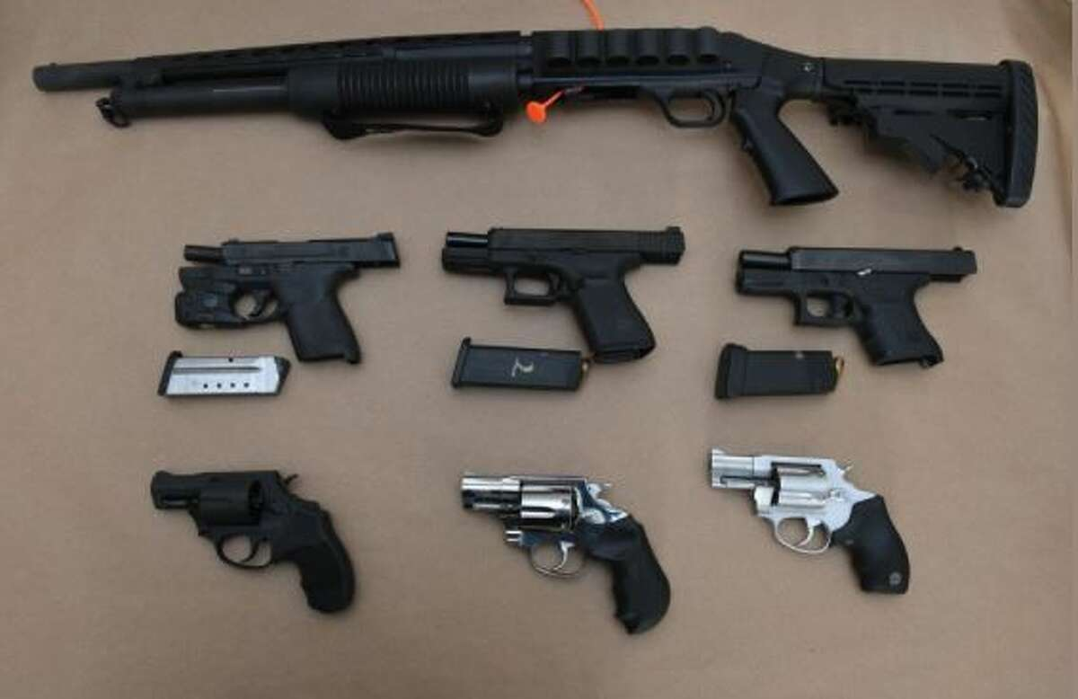 These weapons were recovered after an arrest over a parking spot in Albany.