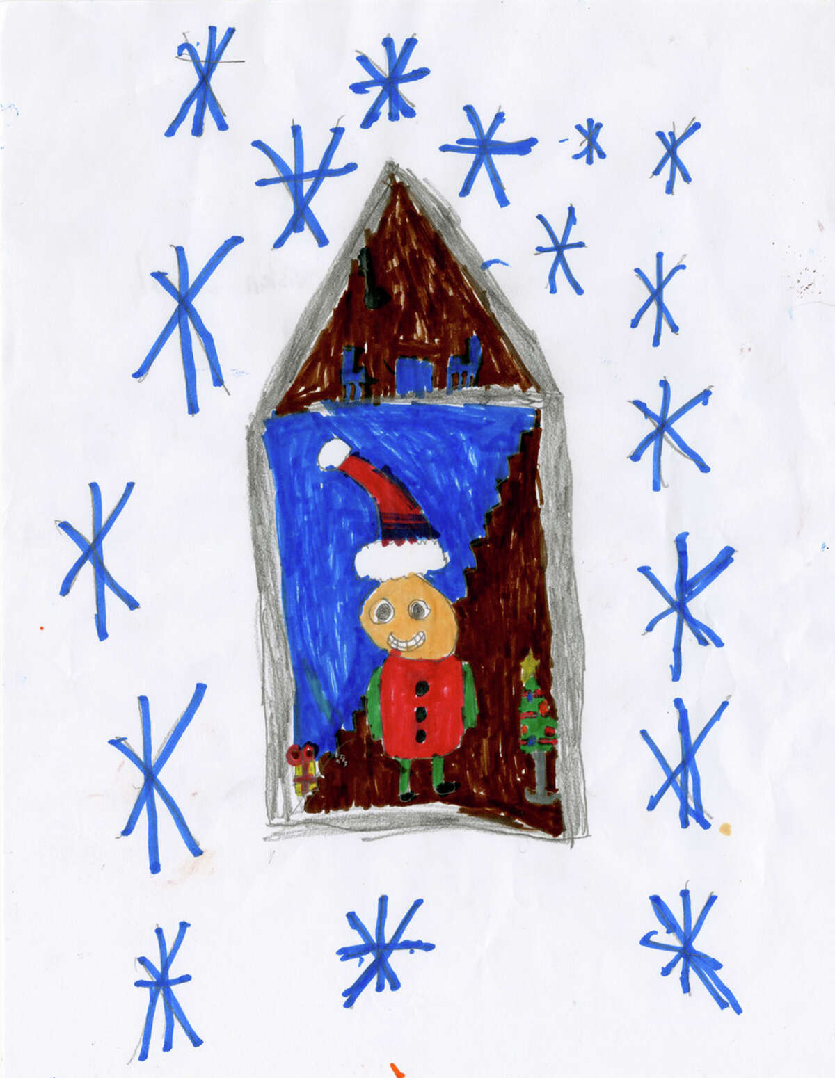 An entry from a schoolchild in the Capital Region for the 2020 Holiday Card Contest.
