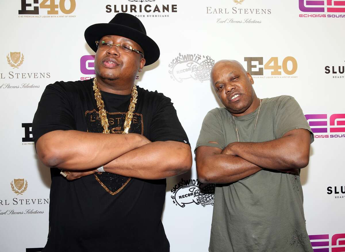 Rappers E-40 and Too $hort arrive at