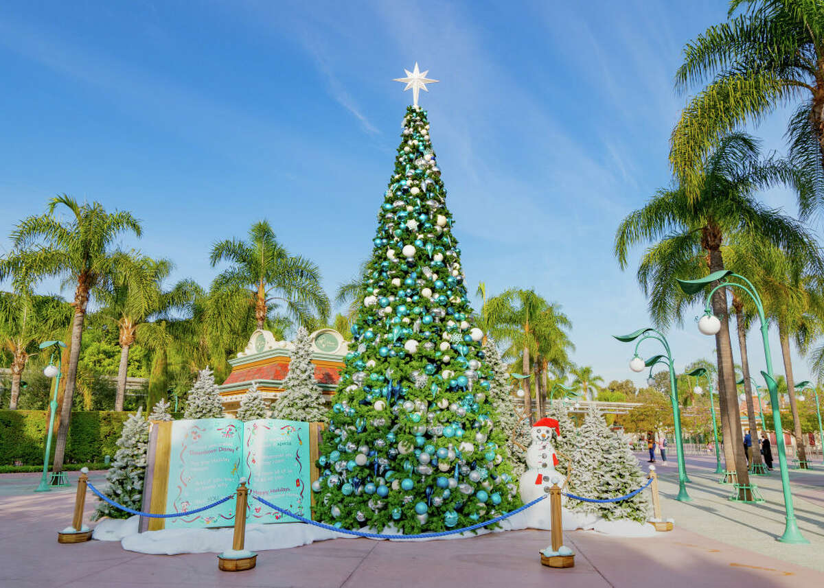 The Disney Christmas tree in Downtown Disney in November 2020