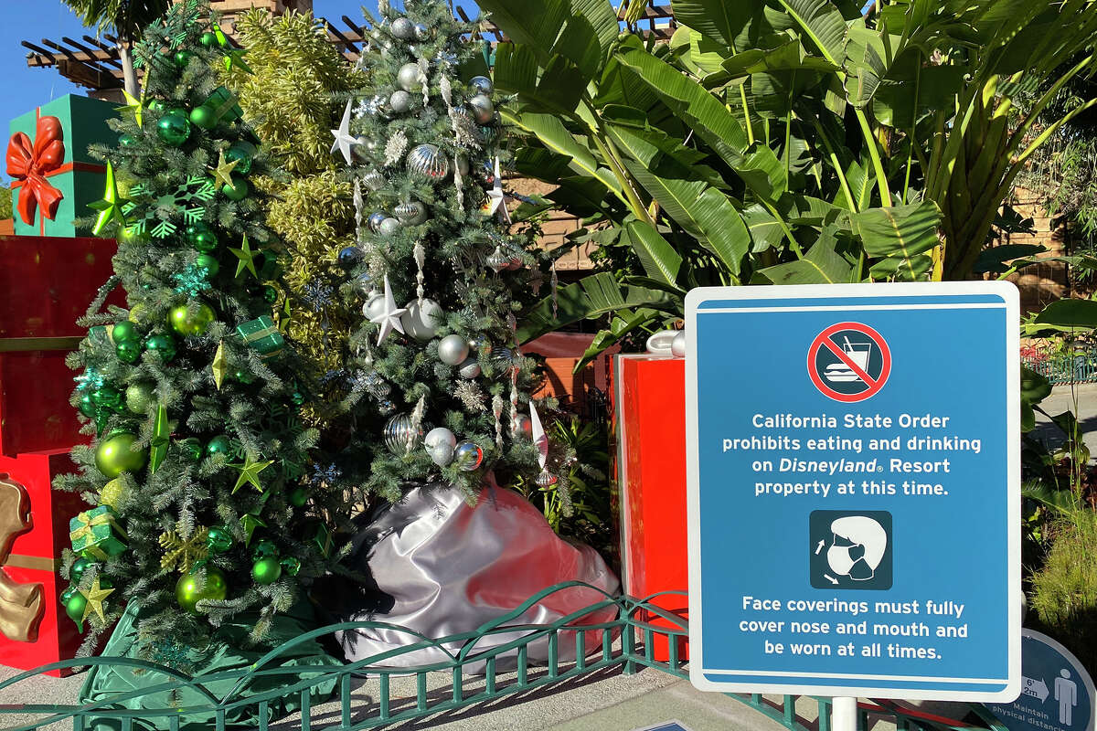 The new stay-at-home order has halted all food and beverage consumption at Disneyland.