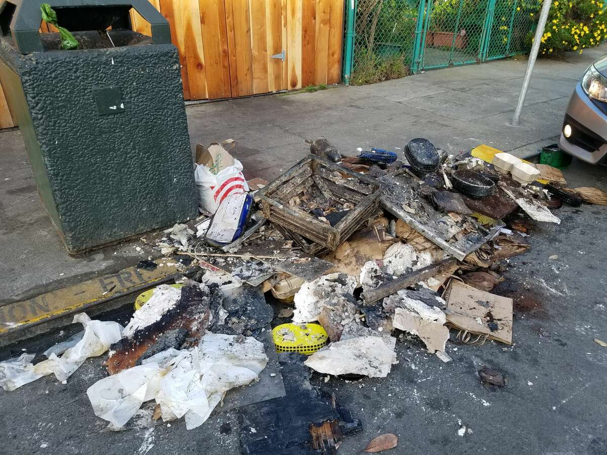 A blaze that broke out Tuesday at Underdogs Too is forcing the popular restaurant to close for at least six months, the owner said. Debris from the fire can be seen outside the restaurant following the blaze.