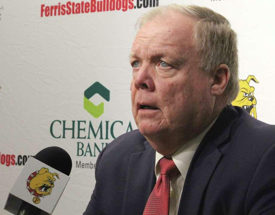 Coach Bob Daniels' hockey team will be playing Michigan Tech and Minnesota State twice in February. (Pioneer file photo)
